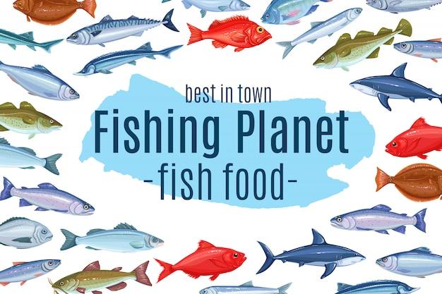 Pagina-ontwerp met vis