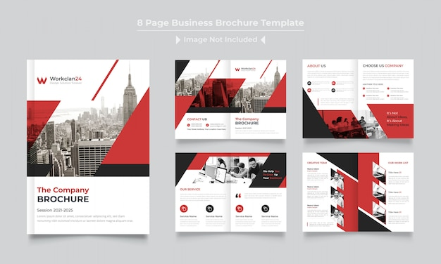 Pagina's bedrijfsbrochure ontwerpsjabloon