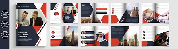 Pagina's zakelijke brochure en bedrijfsprofielontwerp
