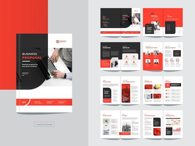 Pagina's zakelijke brochure ontwerpsjabloon