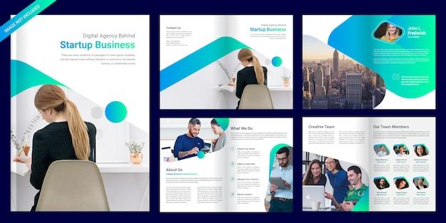Pagina zakelijke brochure sjabloon