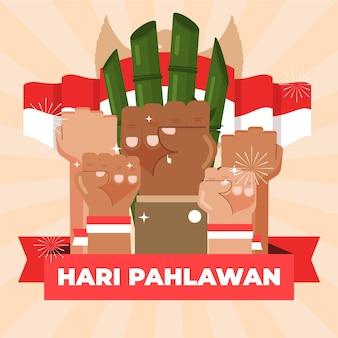 Pahlawan illustratie viering