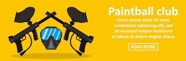 Paintball club banner horizontaal concept