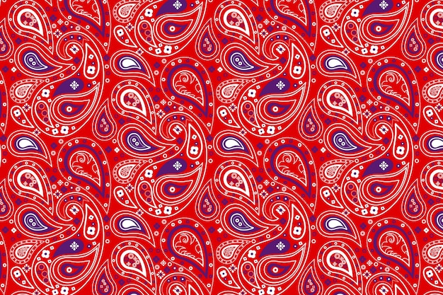 Paisley bandana rood patroon