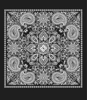 Paisley bandana vector
