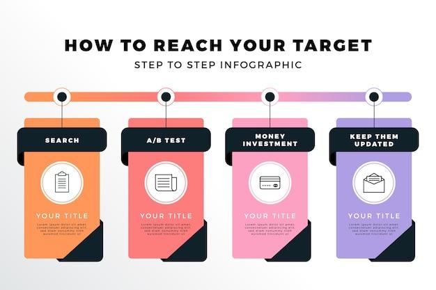 Pak creatieve infographic stappen
