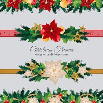 Pak decoratieve kerst randen
