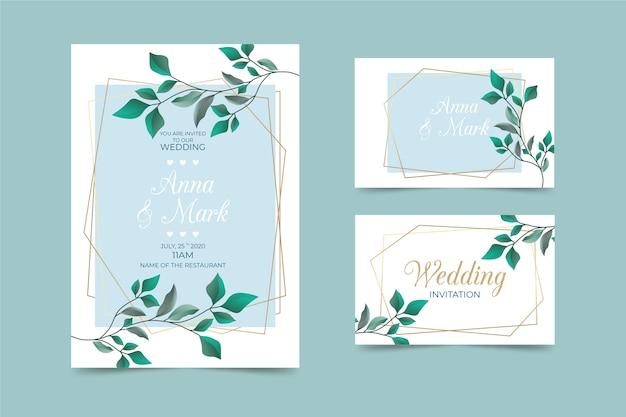 Pak elegante sjablonen voor briefpapierhuwelijken