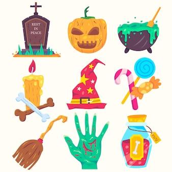 Pak halloween-elementen