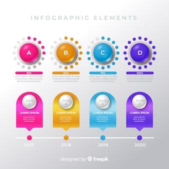 Pak kleurrijke infographic elementen