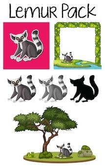 Pak lemur karakter