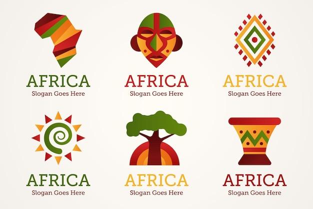 Pak met afrikaanse logo-sjablonen
