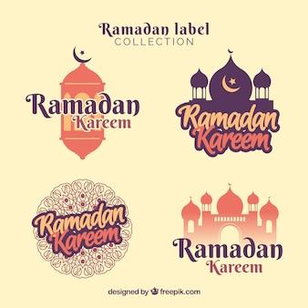 Pak met creatieve ramadan badges