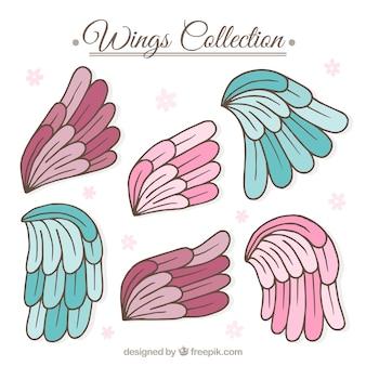 Pak met handgetekende engelvleugels