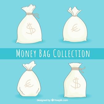 Pak met handgetekende geldzakken