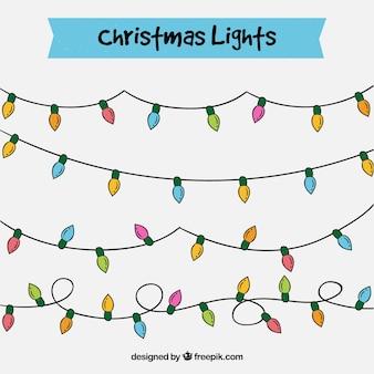Pak met handgetekende lichten kransen