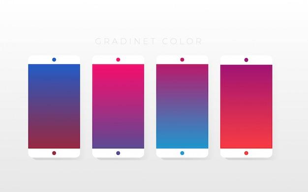 Pak met kleurverloopcollecties