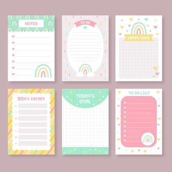 Pak met plakboeknotities en kaarten