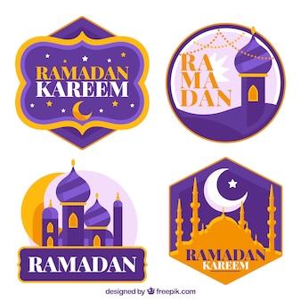 Pak moderne purpere ramadan kentekens