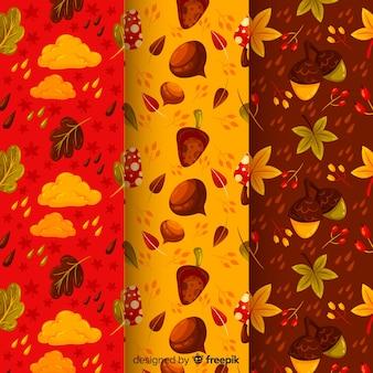 Pak platte herfstpatronen