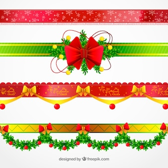 Pak prachtige decoratieve kerst randen