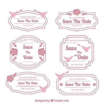 Pak roze en witte huwelijkskentekens