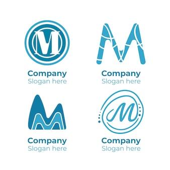 Pak sjablonen met m logo's