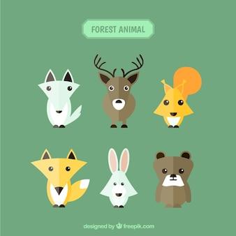 Pak van bos dier in geometrische stijl