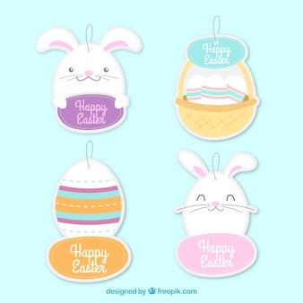 Pak van bunny stickers en paaseieren
