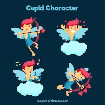 Pak van cupido karakter met rode details
