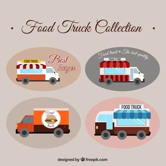 Pak van de hand getekende voedsel trucks