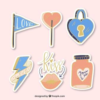 Pak van de liefde stickers met gouden details