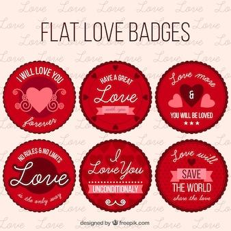 Pak van de liefde vintage ronde stickers