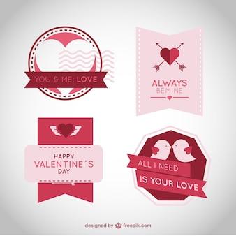 Pak van decoratieve stickers voor valentijn