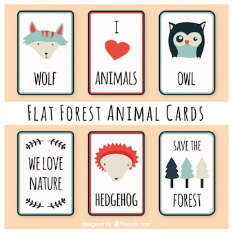 Pak van dieren in het bos mooie kaarten