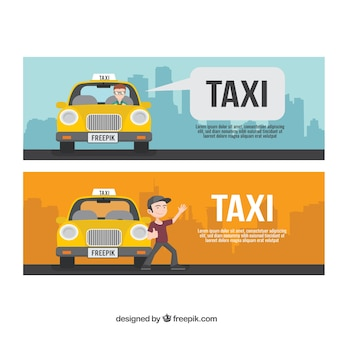 Pak van drie taxi banners