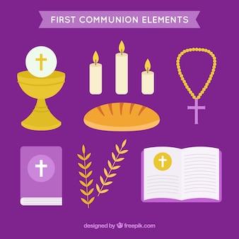 Pak van eerste communie-items