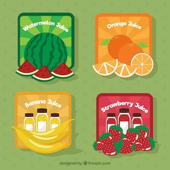 Pak van gekleurde vruchten stickers