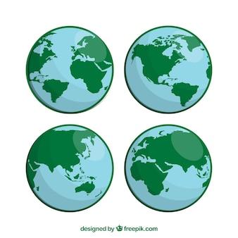 Pak van globes