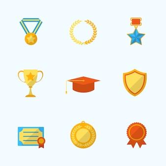 Pak van gouden trofeeën