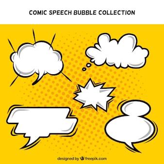 Pak van komische tekstballonnen