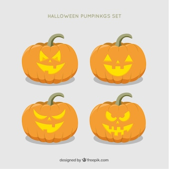 Pak van leuke halloween pompoenen
