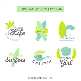 Pak van leuke surf badges