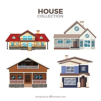 Pak van moderne huizen