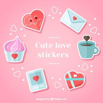 Pak van mooie romantische stickers
