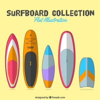 Pak van mooie surfplanken