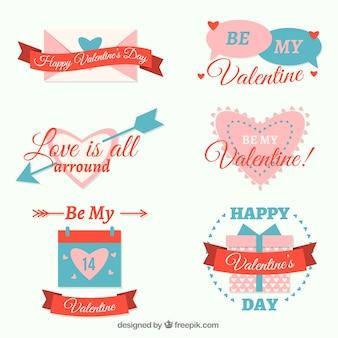 Pak van mooie valentijn stickers met berichten