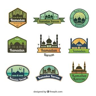 Pak van negen creatieve ramadan badges