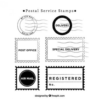 Pak van postdiensten postzegels