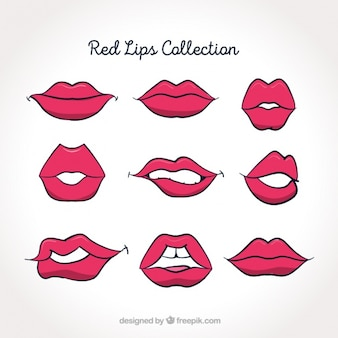 Pak van roze lippen